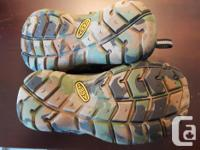 Dark green with camouflage sole - Toddler Size 9 Great