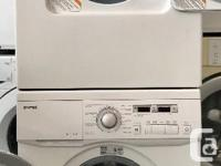 Gently used apartment size frontload washer and 110