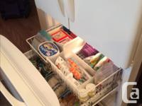 """- Kenmore Elite 36"""" Bottom Freezer Refrigerator cream"""