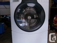 -Standard size -Dryer works well -Washer may do light