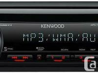 KENWOOD KDC MP145   Front aux AM/FM radio, CD,       30