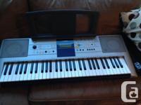 Beginner/intermediate keyboard. Yamaha. Initially