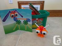Building toy - instructions to make several creatures,
