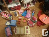 Deluxe Kid Kraft Doll House with Accessories, Dolls and