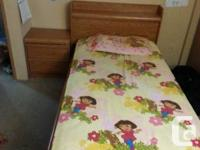 CAPTAIN'S BED WITH 3 DRAWERS 1 SIDE TABLE WITH 2