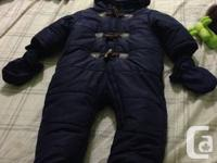 1. Snowsuit footed- comes with matching waterproof