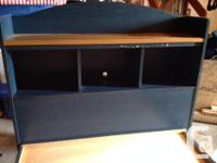Single captains bed with drawers and head board/book