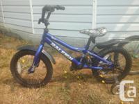 Blue bike has 16 wheels price $75. FIRM Silver bike has