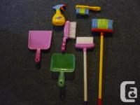 Kids Cleaning Toys including 2 brooms, 2 sweepers, 2