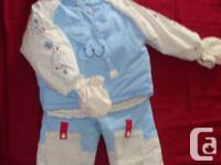 1) Gagou Tagou snowsuit for boy or girl size 24 mos -