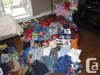 We have an assortment of boys clothing for sale. It is