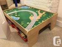 Bought table plus toys from Costco for $170 plus tax,