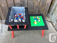 This table has been treated with chalkboard paint and a for sale  Ontario