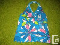 Kid's Area Blue Floral Halter Leading - 3T Girls -