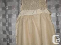 Kid's Location Holiday Metallic Gold Formal Dress - 4
