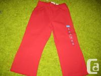 Kid's Place Red Cotton Pants - 24 mths.  Brand new with