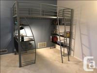 For Sale - Loft Bed with integrated desk and shelving