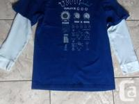 Boys Long Sleeve Blue Hurley T-shirt in terrific