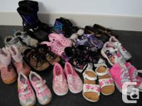 I sale my daughters shoes size 9 to 13.  -