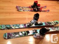 $200 K2 Bad Apples (powder/park skis): 139cm with