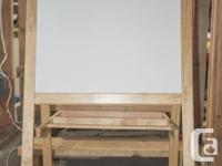 Double-Sided Wooden standing art board. Black side to