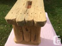 KIDS RUSTIC LOG STEP STOOL VERY SOLID, MATTE FINISH