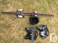 Techno Pro XR Junior Skis, 130cm; Lange Vec-5 boots,
