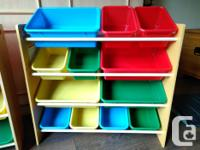 12 bin toy organizers. These were purchased from