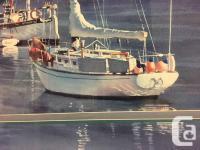 "Large Kiff Holland Large Print Under Glass ""Sailboats"