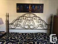 Beautiful king metal bed frame from Bombay and Company