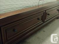 Good quality solid wood bed frame with two deep storage