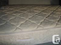 KING MATTRESS AND BOX SPRING IN VERY GOOD CONDITION.