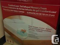 King Size Memory Foam Mattress Topper by Novaform from