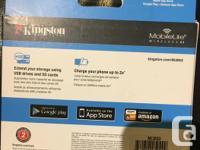 brand new. Kingston MobileLite G3 battery charger+ cell