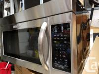 KITCHEN AID OVER THE RANGE MICROWAVE OVEN,BOUGHT IN