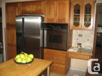 Complete kitchen available mid June. Solid oak