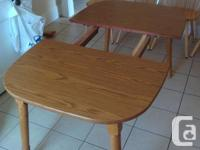 Hi I have a a kitchen table and four chairs for sale