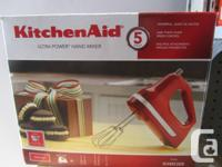 FOR SALE IS A NEW (OPEN BOX) KitchenAid KHM5AP 5-Speed