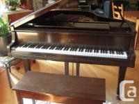 """""""William Knabe"""" Baby Grand Piano 60"""" L by 57"""" W and 38"""""""