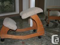 Designed to promote proper sitting posture, alleviate