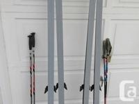 Kneissl Blue Star - X Country Skis with poles - 7' -