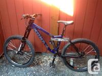Up for sale is a mint kona mountain bike ,email.for