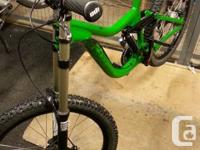 Buying my downhill mountain bike, purchased in the fall
