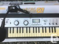 On offer is a microKorg XL synth, an 8 voice analog