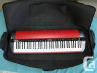 KORG RED SV-1RV 73 KEY PIANO WITH CASE. GRADED
