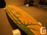 Deck Length:9� x 43�   Deck Bottom: Natural Bamboo