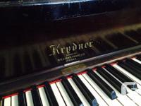 Krudner Upright Piano and Bench Last tuned about 2