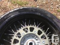 KTM 17 inch supermoto wheels with Michelin pilot power