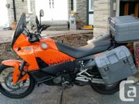 KTM 990 Adventure dual purpose motorcycle.  This is a