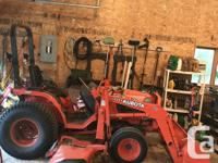 Kubota Tractor Attachments include: Blower Rototiller